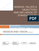 BE 2+Mission Values Objectives,+Stakeholder+Mapping,+Objectives+of+Stakeholders