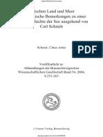 Scheier, C. Schmitt Zwischen Land Und Meer