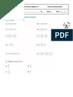 Ficha 3 - Matemática 7º ano