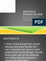 sentence errors review