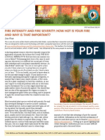 Fire Intensity and Fire Severity
