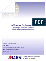 IARS. Annual Conference 2013 Agenda Listening to Community Evidence 06.12.2013
