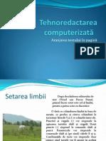 Tehnoredactare Computerizata Si Aranjarea Textului in Pagina
