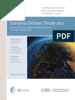 European Defense Trends 2012