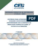 Ind- 010.2013 - Criterios Para Atendimento Conf Resol Aneel 414-2010