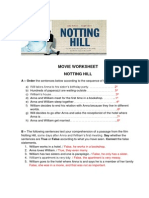 Movie Worksheet - Notting Hill (1)