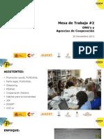 Información de problemas de la Colonia San Benito extraída de mesa de trabajo de cooperación en el área