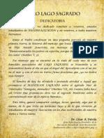 Dedicatoria del libro LAGO SAGRADO y publicación en Diario (1982)