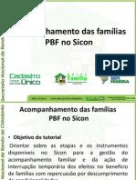 Acompanhamento das famílias PBF no Sicon
