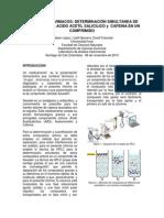 Analsis de la composición farmacologica de un comprimido