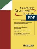 ASIA-PACIFIC DEVELOPMENT JOURNAL Vol.20, n°1, June 2013