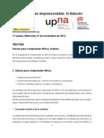 Curso África III edición. Textos 1ª sesión. Claves Culturales