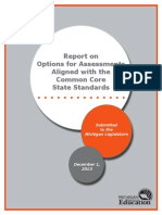 Michigan Department of Education Common Core Assessment Option Report