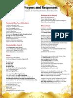 Roman Missal Prayers and Responses