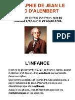 BIOGRÁPHIE DE JEAN LE ROND D'ALEMBERT