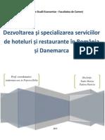 Dezvoltare si specializarea serviciilor de hoteluri si restaurante in Romania si Danemarca