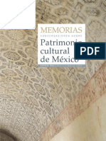 Memorias Patrimonio Cultural de Mexico