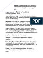 magazine term definitions