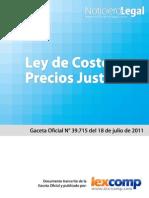Ley de Costos y Precios Justos