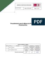 PG-PRD-MPC Rev.1 Mejora de Procesos Constructivos