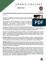 Newsletter 6 Michaelmas Term 2013