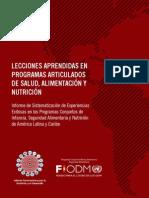 Lecciones Aprendidas en Programas Articulados de Salud Alimentacion y Nutricion