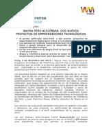 WAYRA PERÚ ACELERARÁ  DOS NUEVOS PROYECTOS DE EMPRENDEDORES TECNOLÓGICOS GVillaran