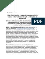 Blue Coat habilita a las empresas a acortar la brecha entre la detección y la contención de incidentes
