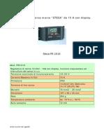 Caratteristiche Tecniche STECA PR1010