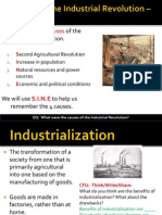 WebNotes - 2013 - Causes of Industrial Revolution