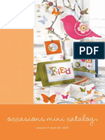 Stampin Up 2010 Occasions Mini Catalog
