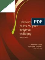 Declaración de las Mujeres Indígenas en Beijing
