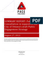 City of Ottawa public consultations report.