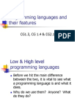 Programming Languages and Their Features