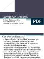 Correlation Research
