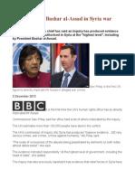 UN Implicates Bashar Al-Assad in Syria War Crimes