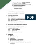 Manual Normas y Procedimientos. Farmacia Comunitaria. 2005