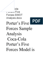 Coca-Cola Porters Five Forces-SWOT Analysis