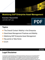 Mobilizing SAP Enterprise Asset Management