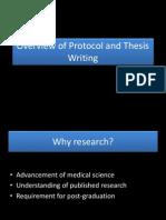 Protocol and Thesis Writing