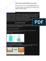 Informe de Trabajo en Laboratorio. Leyes de Los Gases