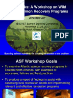Jon Carr (Atlantic Salmon Federation) What works