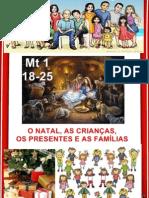 O NATAL, AS CRIANÇAS, OS PRESENTES E AS FAMÍLIAS