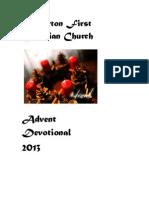 First Christian Church of Fullerton 2013 Advent Devotional