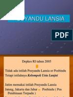 POSYANDU LANSIA