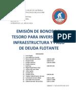TRABAJO EN GRUPO -EMISIÓN DE BONOS DEL TESORO-