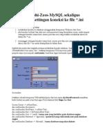 Koneksi Delphi-Zeos-MySQL Sekaligus Menyimpan Settingan Koneksi Ke File Ini