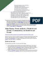 DEATH Be Not Proud John Donne