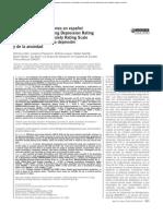 Validación de las versiones en español de la Montgomery-Asberg Depression Rating Scale y la Hamilton Anxiety Rating Scale para la evaluación de la depresión y de la ansiedad