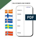 As Bandeiras Da Europa Do Norte
